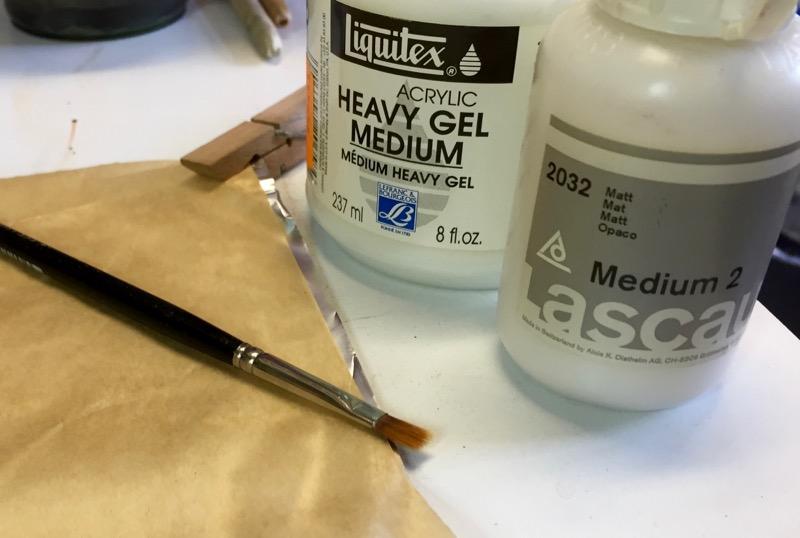 Acryl-Medium und Gel