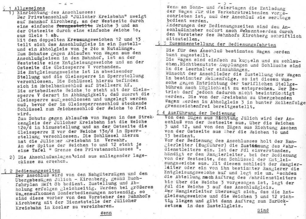 Gleisplan groß zur Bedienung Privatanschluss Seite 2-3